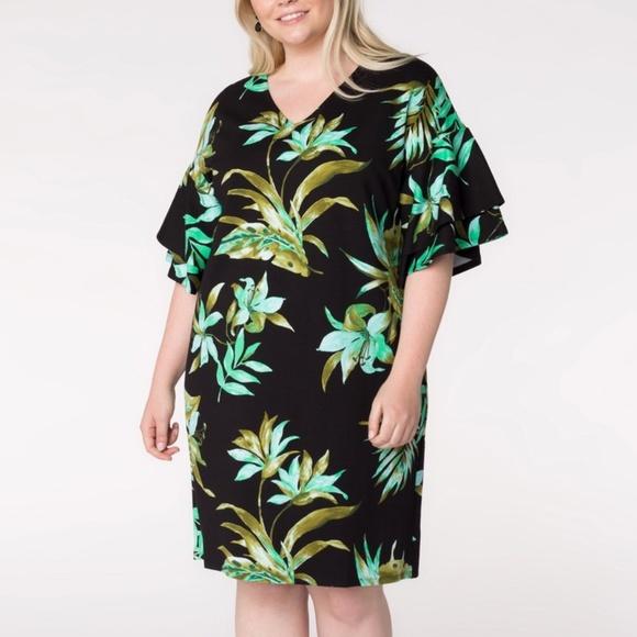 Lauren Ralph Lauren Dresses & Skirts - Lauren Ralph Lauren Floral Print Plus Size Dress